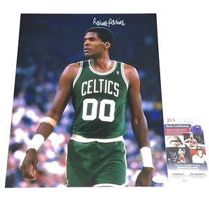 Robert Parish signed Boston Celtics signed 11x14 photo autographed HOF JSA