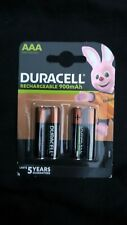 Duracell AAA 900 mAh Rechargeable Batteries - Pack Of 4