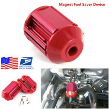 1Pcs Red Metal Casing Car Fuel Saver Magnetic Gas Oil Saving Device Universal US