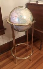 "CRAM'S IMPERIAL WORLD GLOBE WITH BRASS FLOOR STAND-12"" LATE 80'S GLOBE-35"" TALL"