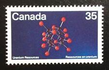 Canada #865 MNH, Uranium - Molecular Structure Stamp 1980