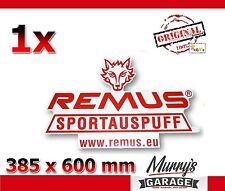 Remus Exhaust 385x600mm Aufkleber, Sticker, Autocollant, Étiquette Sportauspuff