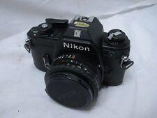 Vintage Nikon EM 35mm Film Camera Body w/50mm 1:1.8 Lens Case