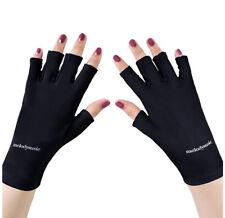 MelodySusie UV Shield Glove Gel Manicures Fingerless Anti UV Glove, Protect Hand