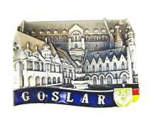 Goslar Silhouette Metall Magnet Germany Deutschland Souvenir,Neu
