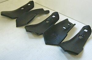 "S Tine Sweep 2 Hole 2-3/4"" Wide 7/16"" Holes 1/4"" Thick Cultivator set of 5"