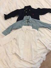 3 Polo Ralph Lauren 12 months boy lot shirts tops Dress Shirts Button down