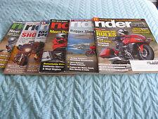 6 RIDER motorcycle - 2014 - JAN FEB MAR APR MAY JUNE Ninja Kawasaki STAR VMAX
