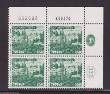 ISRAEL Landscape #468 ROSH PINNA  0.50  Plate Block Stamp  01.01.74 / 032008