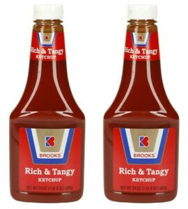2 Brooks Rich & Tangy Ketchup 24 oz Squeeze Bottles