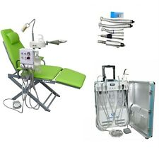Dental Portable Unit with Air Compressor 4H + Dental Chair + Handpiece Kit 4H