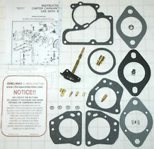 1954-55 CARB KIT CARTER MODEL YF 1 BARREL NASH  6 CYLINDER ENG ETHANOL TOL NEW