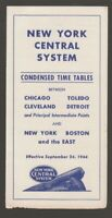 [72033] 1944 NEW YORK CENTRAL SYSTEM between CHICAGO and BOSTON RR TIMETABLE