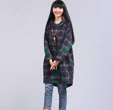 Oversized Sweatshirt Long Hoodie Women Vintage Cat Printed Pullover Jumper Coat
