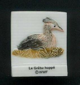 """Fève - WWF - Le Grèbe huppé - Collection """"Préservons l'eau douce"""""""