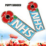 NHS Enamel Poppy Badges 2019 Crystal Pin Badge Red Brooch Collection Day New