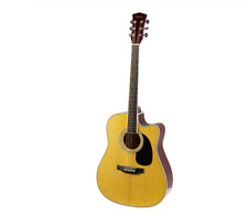 Acoustic Guitar Wooden Color Rosewood Fingerboard Cutaway Instrument