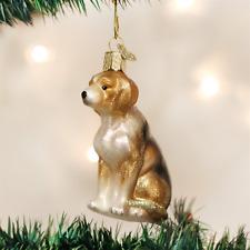 OLD WORLD CHRISTMAS BEAGLE DOG GLASS CHRISTMAS ORNAMENT 12286