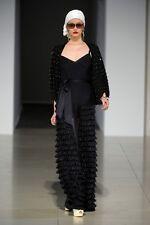 Temperley London Ink Color Long Valentina Pintuck Dress Size UK 10, US6,     #1