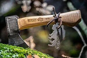 BISON 1879 - Trekkingbeil handgeschmiedet Axt Beil Outdoor Survival