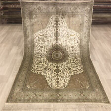 YILONG 4'x6' Hand Knotted Silk Carpets Home Interior Indoor Area Rugs 025B