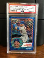 2018 Topps Silver Pack Blue Wave 1983 Chrome Michael Conforto Card #91 PSA 10