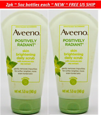 2pk Aveeno Positively Radiant Skin Brighten Exfoliating Daily Facial Scrub 5oz e