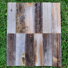 12 Reclaimed Wood Boards/Rustic Barn Wood Style Boards/Salvage Lumber (12