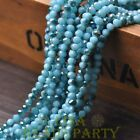 New 100pcs 4X3mm Glass Rondelle Faceted Loose Bead Opaque Lake Blue&Green