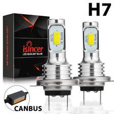 2x H7 LED Scheinwerfer Birnen Kit 12V CSP 6000K Xenon Weiß Nebel Lampen CANBUS