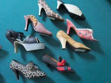 "Miniature 8 Ceramic Collectible Fashion Shoes Around 3-4"" 8 Pcs Lot 1"