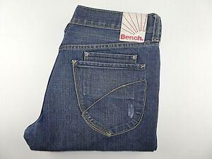 "BENCH Mens Jeans Blue Denim Straight Leg Zip Fly SIZE W36 L32 Waist 36"" Leg 32"""