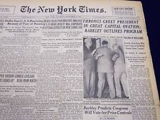 1948 NOV 6 NEW YORK TIMES NEWSPAPER - THRONGS GREET PRESIDENT IN OVATION - NT 60