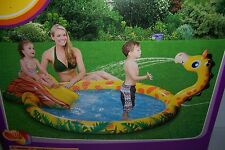 CLEARWATER PLAY CENTER POOL WATER SPRAYING GIRAFFE INFLATABLE POOL W/ SLIDE NEW