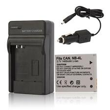 NB-4L Battery+Charger for Canon PowerShot SD630 SD750 SD780 SD940 SD960 IS TX1