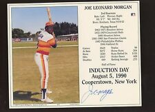 1990 Joe Morgan Houston Astros Hall of Fame Induction Photo Autographed Hologram