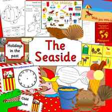 SEASIDE topic teaching resource pack on CD - EYFS, KS1 HOLIDAYS SUMMER WEATHER