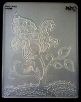 Sizzix Large Embossing Folder MOD FLOWERS FLOWER fits Cuttlebug 4.5x5.75in