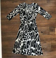 Issa London, Rare Vintage Silk Black & White Print Dress, Size 4US