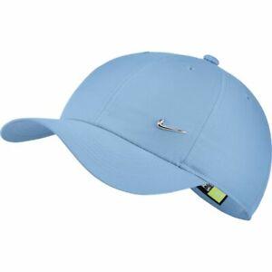NIKE Basecap Heritage86 Kids Adjustable Hat Metal swoosh Mütze hellblau