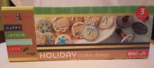 New Nordic Ware Holiday Cast Cookie Stamps 3 Piece Set