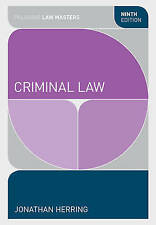 Criminal Law by Jonathan Herring (Paperback, 2015)