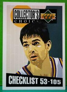 John Stockton subset card Checklist 1994-95 Upper Deck Collector's Choice #208