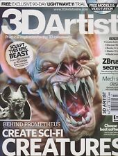 3D ARTIST, ISSUE  NO. 43 - Free Shipping-New-Unread-Video Disc&Magazine-
