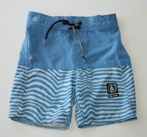 Boy/'s Volcom Boardshorts Swim Surf Trunks Size 10 Slim 10//23 Camper Blue NWT