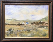Original Irish Art Acrylic Painting Cottages In The Mournes By Perry Whelan