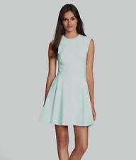 NWT Ted Baker Mint Green Nistee Sleeveless Dress Side Pleat Skater US Size 6