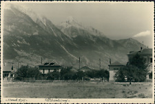 Suisse, Martigny, Vue des montagnes, 1949, Vintage silver print Vintage silver p