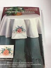 Rose Special Edition Stamped 1999 Vintage Bucilla 64834 Table Topper Elegant
