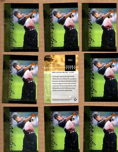 10 card Lot of 2001 Upper Deck Tiger's Tales #TT23 Tiger Woods